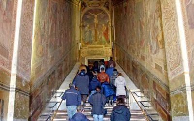 Scala Santa. La escalera por la que ascendió Jesús